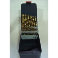 "DRILL SET 1/16"" - 1/2"" TIN COATED - NO STOCK"