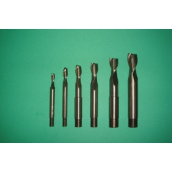"LONG SERIES  ENDMILL SET 3/16"" - 1/2"""